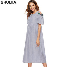 stripes sexy loose dress Speed sell through amazon sells dresses sell like  hot cakes Europe and the United States dress 7ee59d74f825
