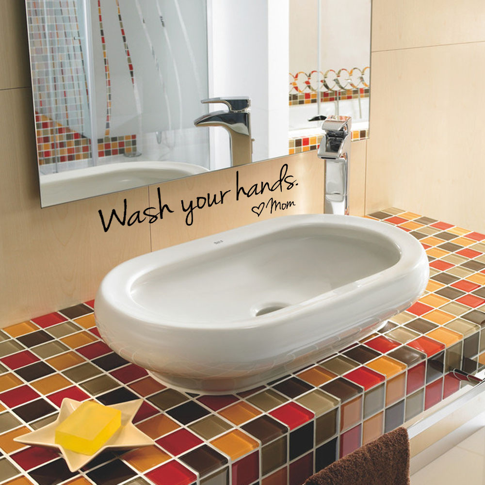 Bathroom Sink Quotes compare prices on wall quotes bathroom- online shopping/buy low