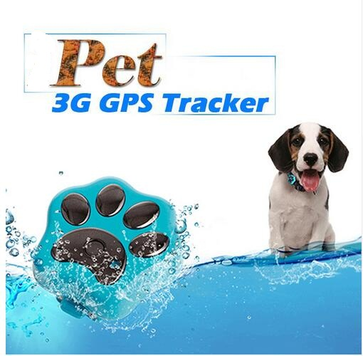 With 3G Network Waterproof Mini GPS Tracker Dog Cat Pet Personal Tracking Locator IOS / Andriod App GSM GPRS Tracker