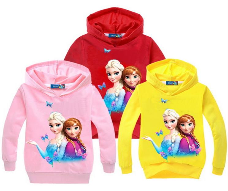 Clothing Sweatshirts Jacket Hooded Elsa Anna Boys Kids Children Brand Casual Spring Coats