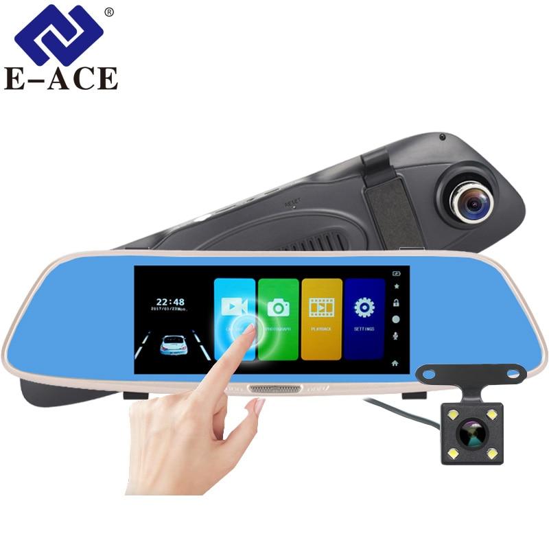 E ACE A04 Car DVR Camera Rearview Mirror Dash cam FHD 1080P 7 0 Inch Touch