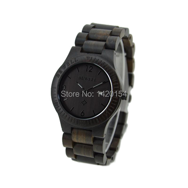 2016 Latest Ultra-thin Men's Watch Ebony Bewell Wood Case Wooden Watch Women 00the latest version of ultra thin led mirror to watch fashion ideas led watch spider web ball type