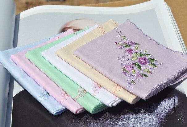 Embroidered 100% cotton handkerchief 100% cotton handkerchief women's handkerchief classic embroidered