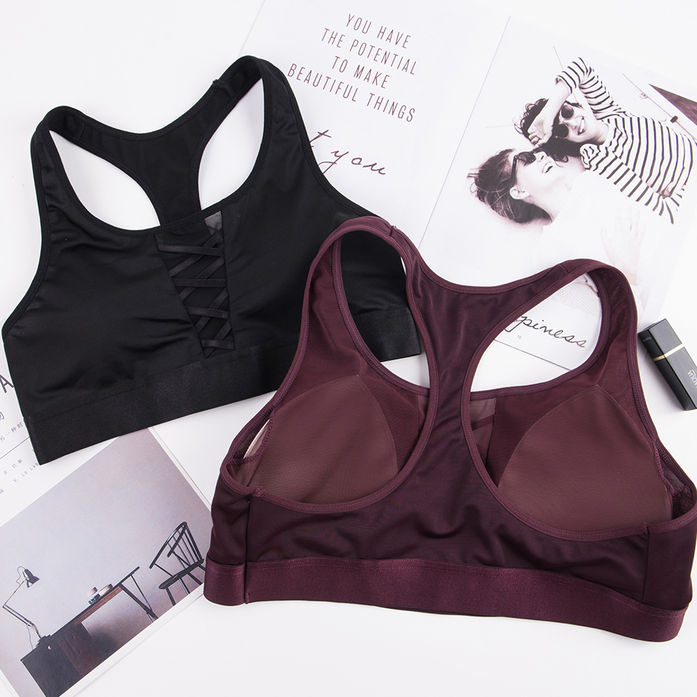 3919ce1bb THUNSHION Women Sports Bra for Sporting Yoga Fitness Athletics Gym Crop Top