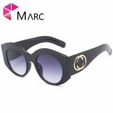 MARC UV400 2018 NEW WOMEN MEN sunglasses Gradient Oculos eyewear Black Pink Plastic Brown Wrap Clear