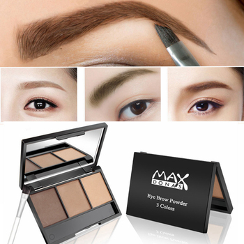 3 Colors Eyebrow Enhancers Waterproof Powder Pigment Palette Eyes Makeup Black Brown Brows Shades Tattoo Tint Make Up Women