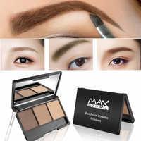 3 farben Augenbraue Enhancer Wasserdicht Pulver Pigment Palette Augen Make-Up Schwarz Braun Brauen Shades Tattoo Farbton Machen Up Frauen