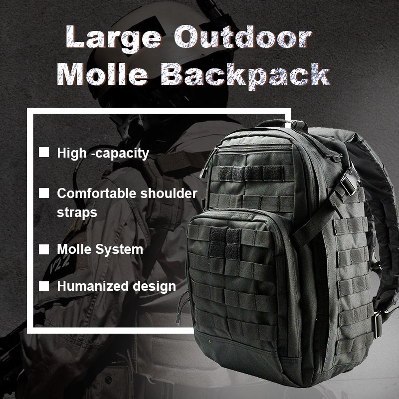 Tactical Climbing Backpack Rucksack Molle Military Bag 24L Nylon Outdoor Sports Bags Travel Camping Hiking Hunting
