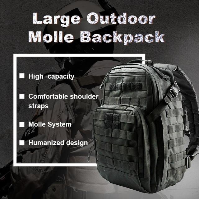 5f26896ac AIRSOFTPEAK táctico escalada mochila militar Molle bolsa 40L Nylon deportes  al aire libre de viaje Camping