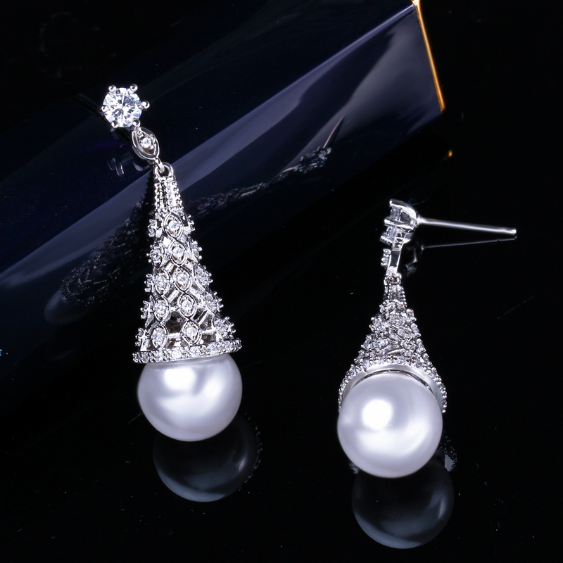 Pearl Drop Earrings 5