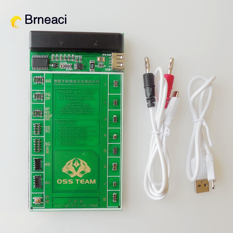 Brneaci Phone Battery Fast Charging Activation Board For Iphone 5 6 6s 7 Plus For Samsung  Huawei