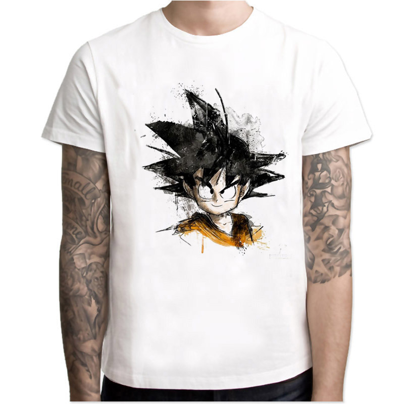 Newest Dragon Ball   T     Shirt   Super Saiyan Dragonball Z Dbz Son Goku Tshirt Capsule Corp Vegeta   T  -  shirt   Men Boys Tops   Shirt