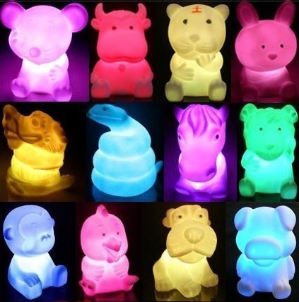 Mini led Night light for baby lighting,decoration with different animals