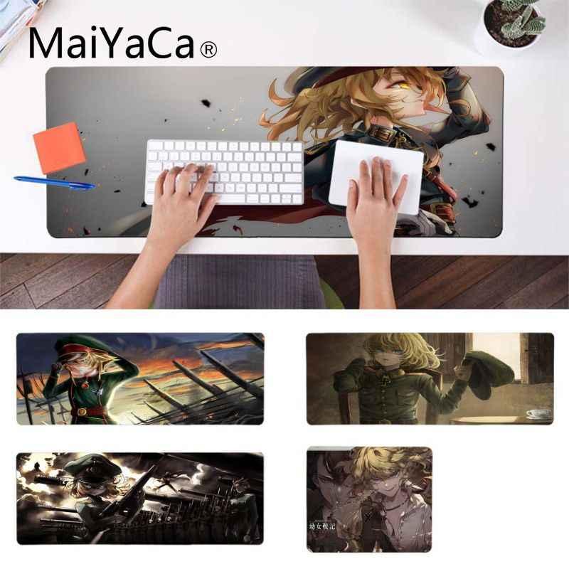 MaiYaCa Youjo nikt Tanya Von Degurechaff dziewczyny anime podkładki pod mysz komputerowa podkładka pod mysz do laptopa z motywem anime komfort podkładka pod mysz do gier