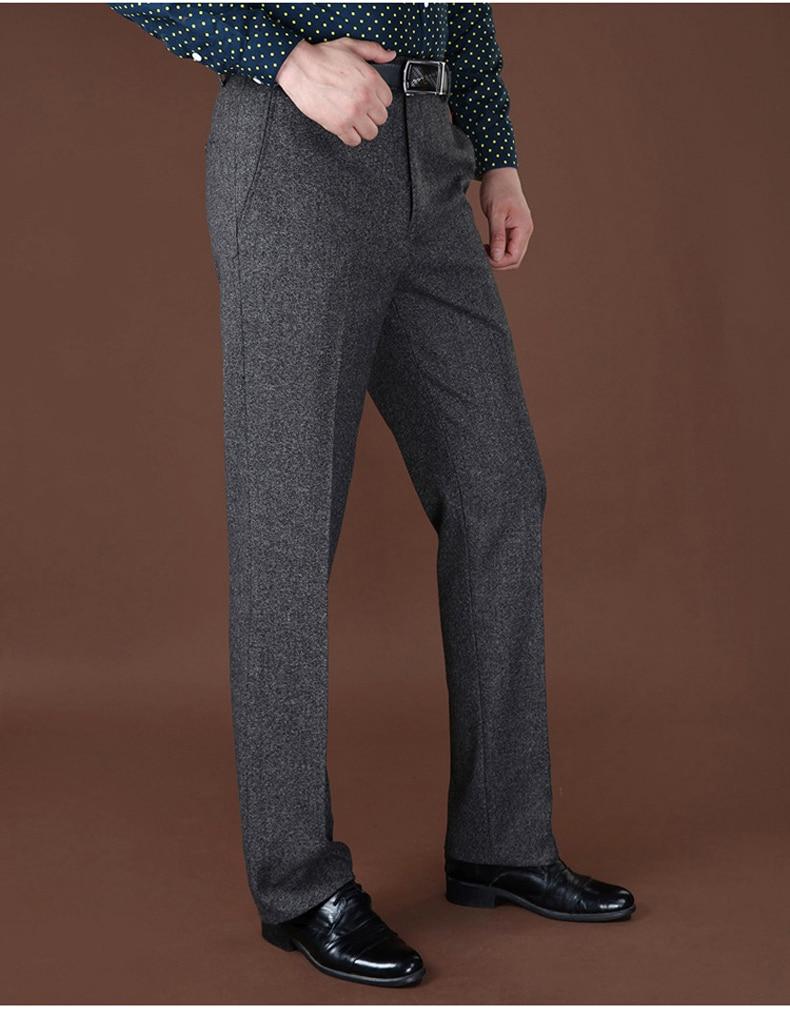 HTB1FolvXA9WBuNjSspeq6yz5VXaS Plus Sizes 40 42 44 Business Casual Fleece Warm Suit Pants New Straight Formal Male Winter Trousers Plus Thicken Velvet Trousers