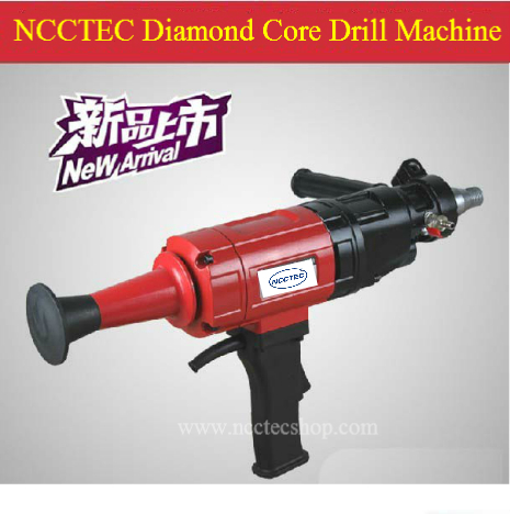 6.4'' Hand held diamond core drill machine FREE shipping   160mm drill which the gear box oil is all the liquid   2hp long life
