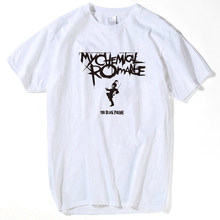 Punk shirt My Chemical Romance T-shirts mannen tops 2018 zomer witte tops man grappige t-shirts hot koop hiphop streetwear plus size(China)