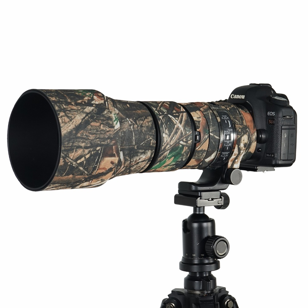 Eigentijdse rubberen camouflage neopreen lensjas Waterdichte lens - Camera en foto