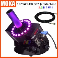 Co2 Jet Machine DMX 512 Switchable Led Co2 Jet Fog Blast Special Effects 18pics 3W Led