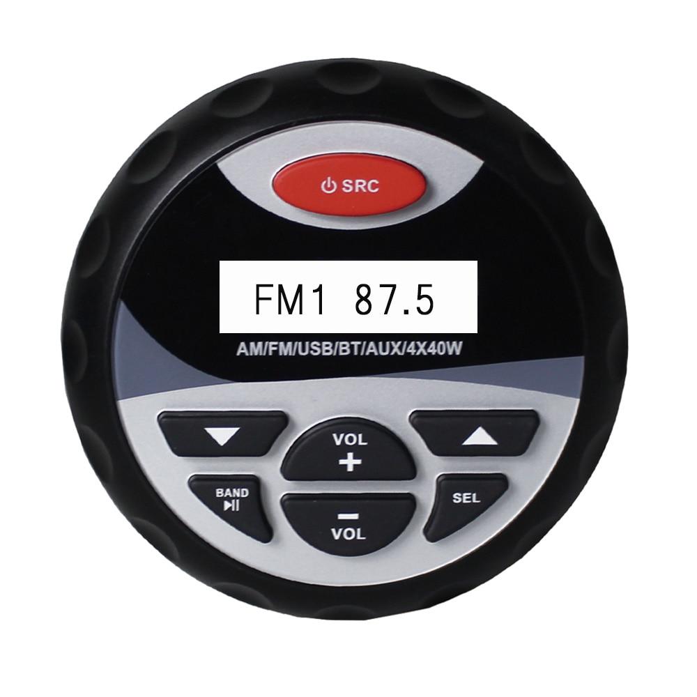 Marine étanche Bluetooth stéréo Radio AM FM Audio voiture lecteur MP3 système USB et AUX entrée pour SPA ATV UTV moto Yacht bateau