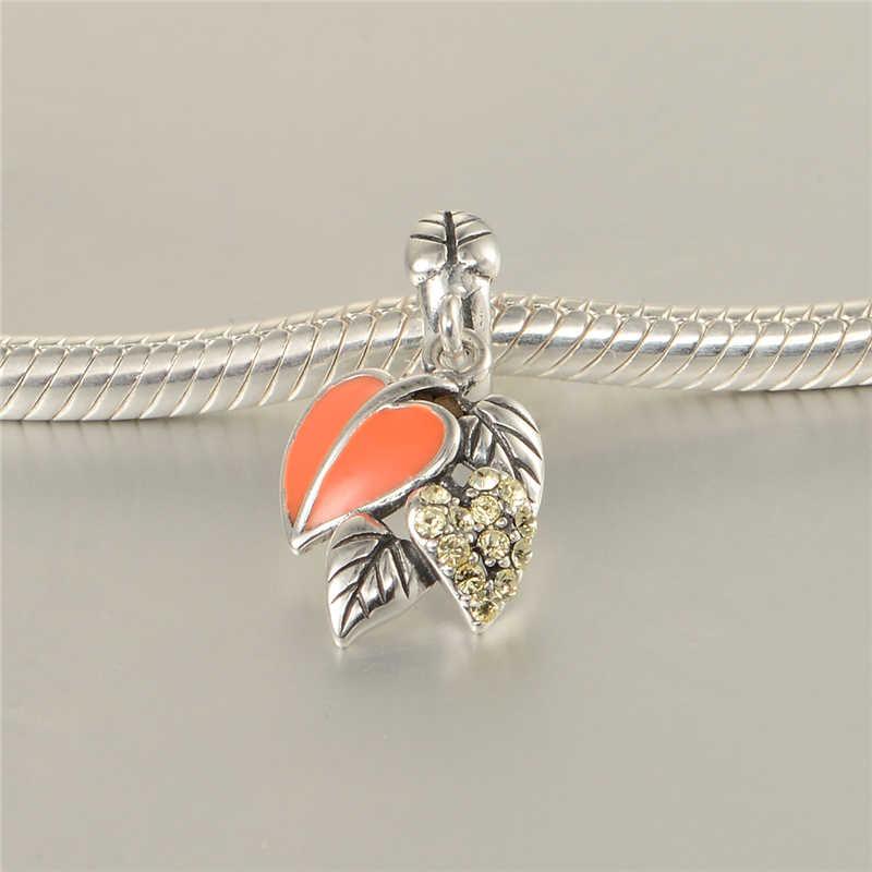 Сердцелистный шармы, подвески из стерлингового серебра 925 подходит для брендовая дизайнерская обувь P браслеты или ожерелья gw бижутерия S330H20