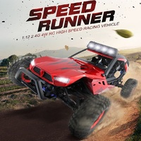 2018 News 45KM/H 1:12 4WD 2.4G High Speed Rock Crawler Remote Control RC Car simulation cross country vehicle