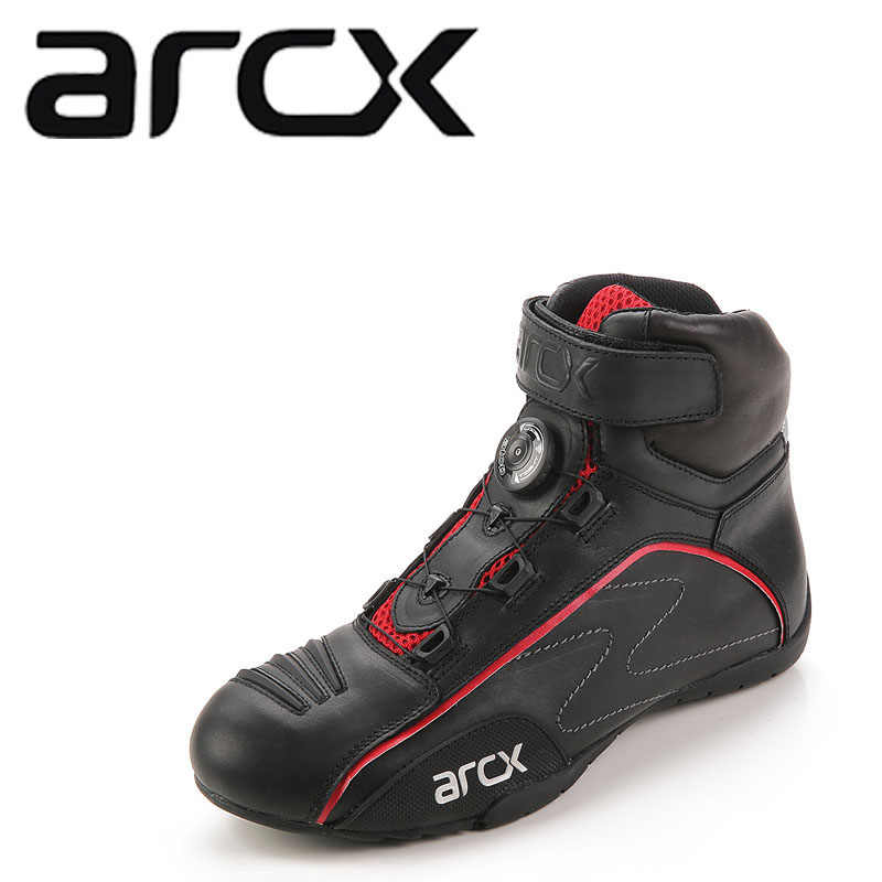 ARCX Racing Moto chaussures Moto bottes boucle rotative respirant été rue Moto Scooter Motocross chaussures de démarrage