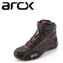 ARCX yarış Moto ayakkabı motosiklet botları dönen toka nefes yaz sokak motorsiklet Scooter Motocross Boot ayakkabı