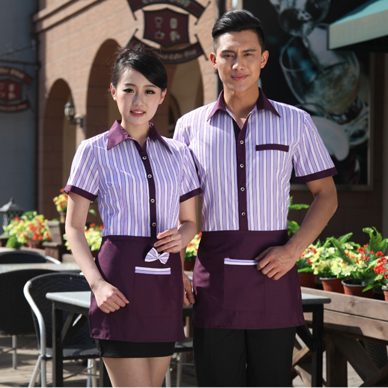 Chef Jackets Restaurant Waiter Working Clothing  Stuff Uniforms Summer Hotel Waiter Uniform