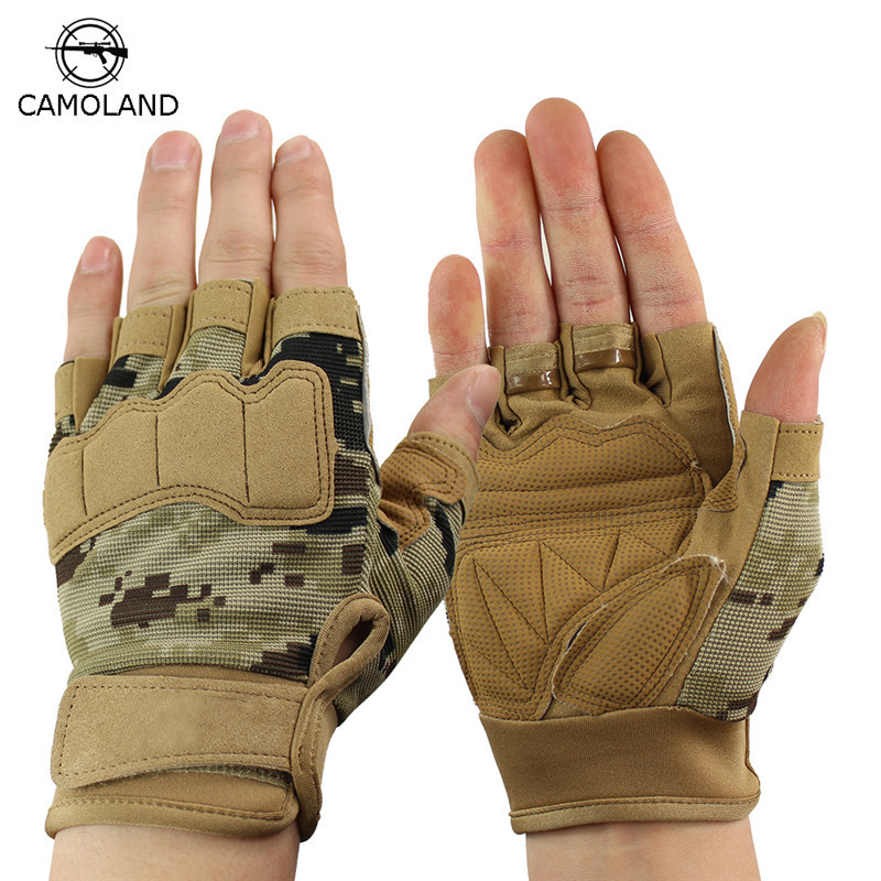 Brand New Fingerless Gloves Men Outdoor Sports Half Finger Army Military Tactical Gloves Gym Training Weight Lifting Soft