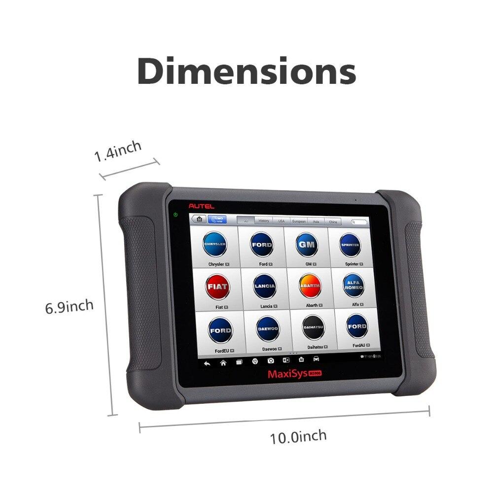Image 5 - Autel MaxiSys MS906 OBD2 сканер автомобильный диагностический инструмент MS 906 ключ Программирование считыватель кодов OEM инструменты кодирование ключей