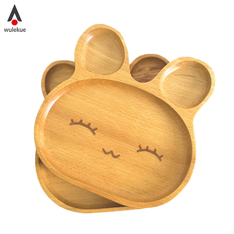 1PCS Wood Rabbit Food Dish For Kids Toddler Divided Plates Platter Baby Feeding Utensils Dinner Tray Wooden Kid Tableware-in Dishes \u0026 Plates from Home ...  sc 1 st  AliExpress.com & 1PCS Wood Rabbit Food Dish For Kids Toddler Divided Plates Platter ...