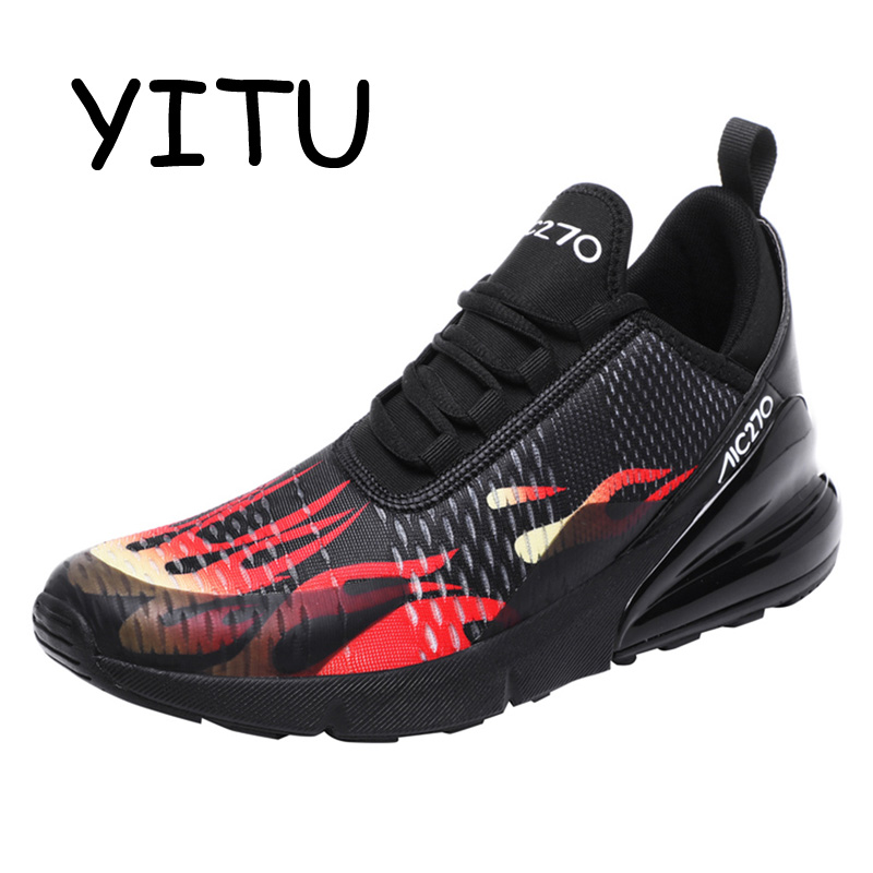 YITU Sport Shoes Running Shoes for Men Sneakers Outdoor Breathable Zapatillas Hombre Light Athletic Jogging Running Shoes Tennis
