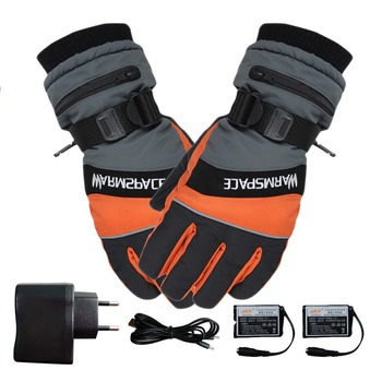 Winter Ski Usb Rechargeable Heated Gloves Mittens Warm Snowmobile Snowboard Ski Gloves