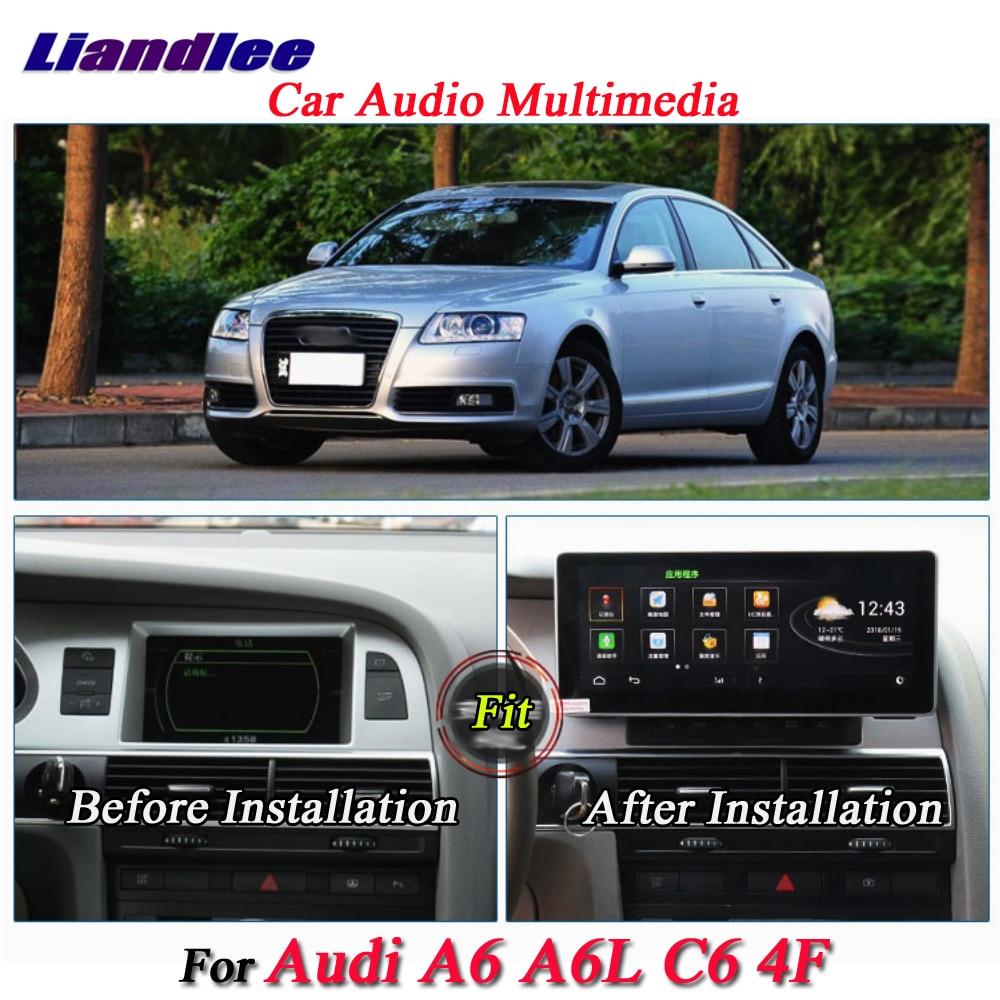 Liandlee pour Audi A6 A6L C6 4F 2002 ~ 2012 Android système d'origine Radio GPS carte Navi Navigation écran multimédia pas de lecteur DVD