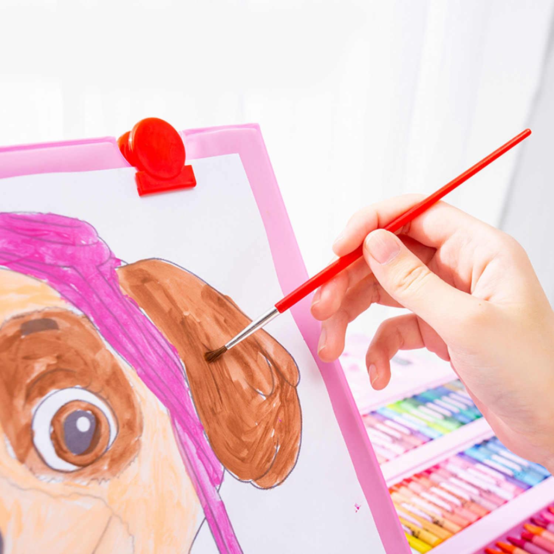 Children kids colored pencil artist kit set painting crayon marker pen brush drawing tools set kindergarten