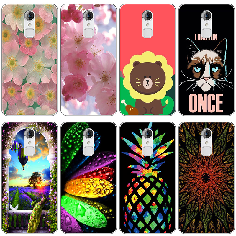 TPU Soft Print Phone Case for <font><b>ZTE</b></font> Blade A1 C880A C880U <font><b>C880S</b></font> C880 Soft Silicone Back Cover Case Painted Pattern Rose Flower image