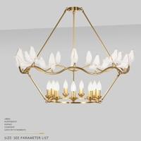 Столовая золотые люстры современные люстры спальня ручной работы высокого качества Медь LED спальня гостиная огни