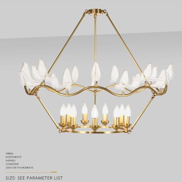 Sala da pranzo lampadario dorato illuminazione moderna lampadari camera da  letto fatto a mano di alta qualità di Rame ha condotto la camera da letto  ...