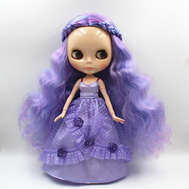 Free Shipping BJD joint RBL-350J DIY Nude Blyth doll birthday gift for girl 4 colour big eyes dolls with beautiful Hair cute toy free shipping bjd joint rbl 415j diy nude blyth doll birthday gift for girl 4 colour big eyes dolls with beautiful hair cute toy
