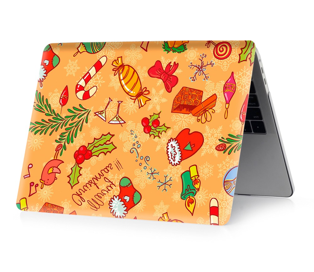 Image 4 - Christmas color printing notebook case for Macbook Air 11 13 Pro Retina 12 13 15 inch Colors Touch Bar New Pro 13 15  New Air 13-in Laptop Bags & Cases from Computer & Office