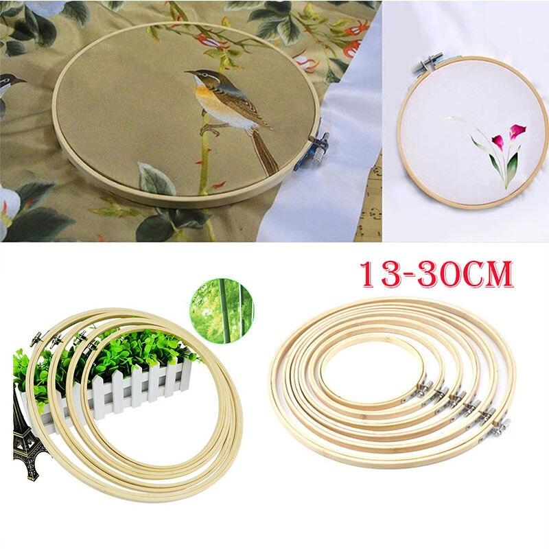 6 Größe 13 30 CM Stickrahmen Holz Ringe für Stickerei Rahmen Nähen ...