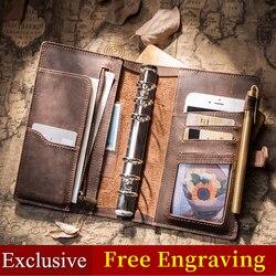 Cuaderno de cuero IPBEN diario del viajero planificador de viaje a5 cuaderno de notas 2019 diario filofax calendario artesanal regalo postales adhesivas