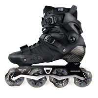 100% Original 2018 Powerslide EVO Carbon Fiber Professional Slalom Inline Skates Adult Roller Free Skating Shoes Sliding Patines