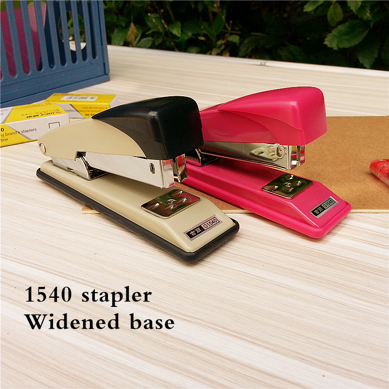 Wen Ni High Quality 3 Colors 24/6 24/8 Metal Standard Stapler With Staples School Office Binding Supplies1540 free shipping luxury rose gold manual stapler with 1000pcs staples acrylic 24 6 paper stapler office accessories binder stationary set