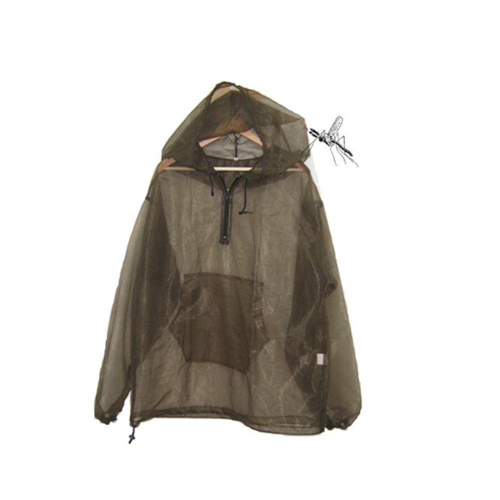 Aventik Mosquito Jacket Cloth Super Fine Mesh Super light One Size For All Full Face Hood Keep Safe Cool UV Protection Great
