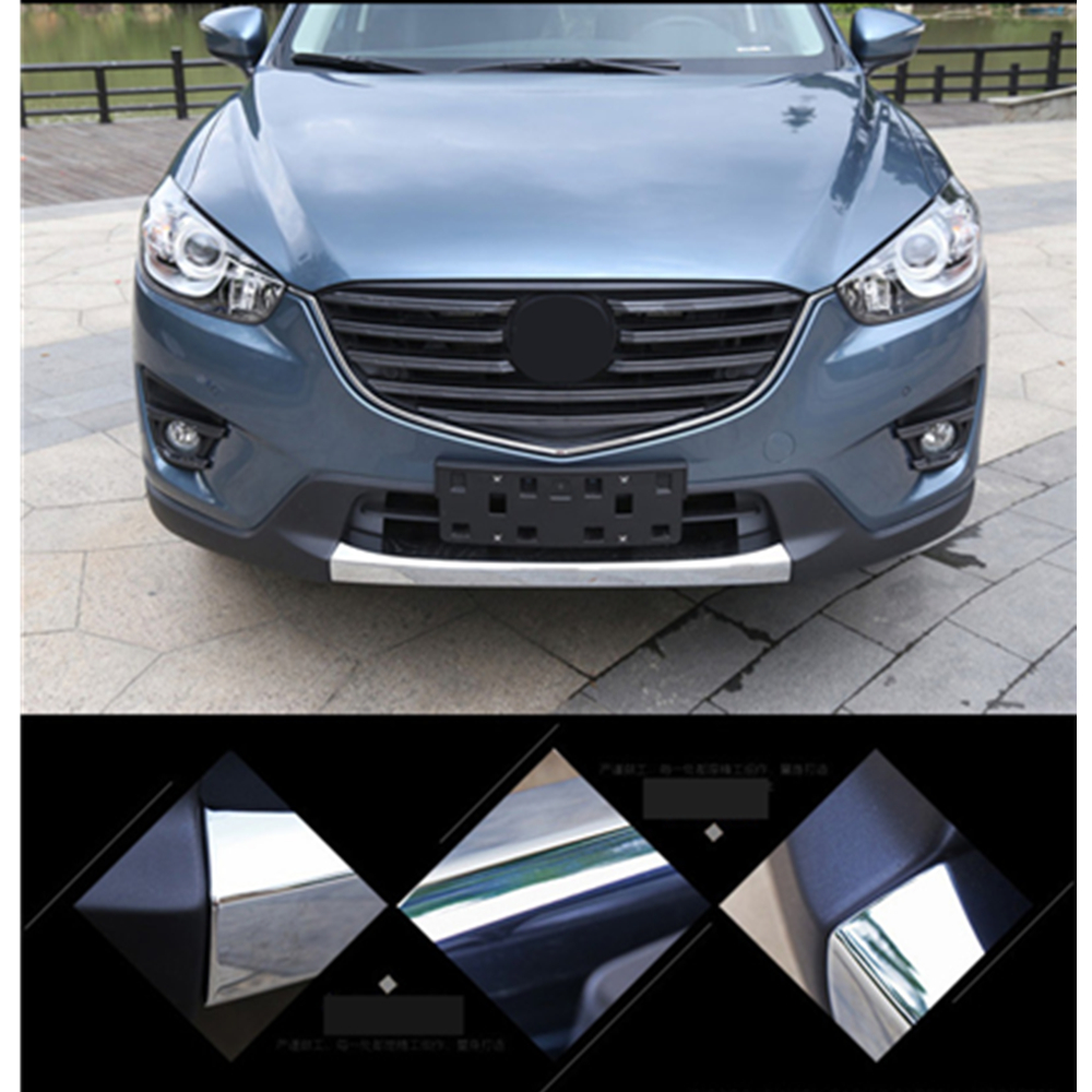 Car Styling Front Bumper Protector Head Bumper Sill Trim For Mazda Cx-5 Cx5 2012 2013 -2016 Abs Chrome Car Accessories 1Pc набор ремней абразивных work sharp x65 course для электроточилки wskts ko 5 шт