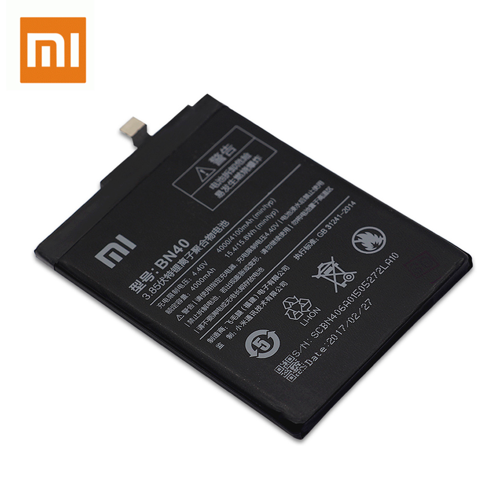Xiao Mi 100 Original BN40 For Xiaomi Redmi 4 Pro Prime 3G RAM 32G Real Capacity Rechargeable Phone Batteria Akku Free Shipping in Mobile Phone Batteries from Cellphones Telecommunications