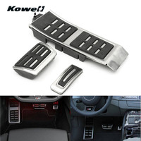 KOWELL Foot Rest Fuel Gas Brake Clutch Pedals Plate Cover Car Pedal Pads For Audi A4 S4 B8 S4 RS4 Q5 A5 RS5 8T 8R 09 15 A6 S6 C7