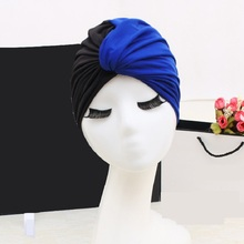 FGHGF Swim Pool Stitching flower Swimming Cap waterproof Hat Women Bathing caps for Long Hair splice Ear Protection Large Size retro floral swimming cap hair protection gear bathing caps for women ladies to keep hair dry